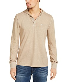 Men's Textured Hooded Henley