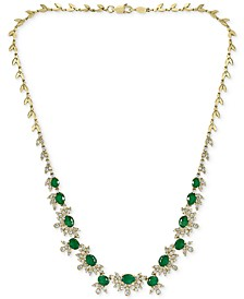 "EFFY® Emerald (7-1/2 ct. t.w.) & Diamond (2-1/2 ct. t.w.) 16"" Statement Necklace in 14k Gold"