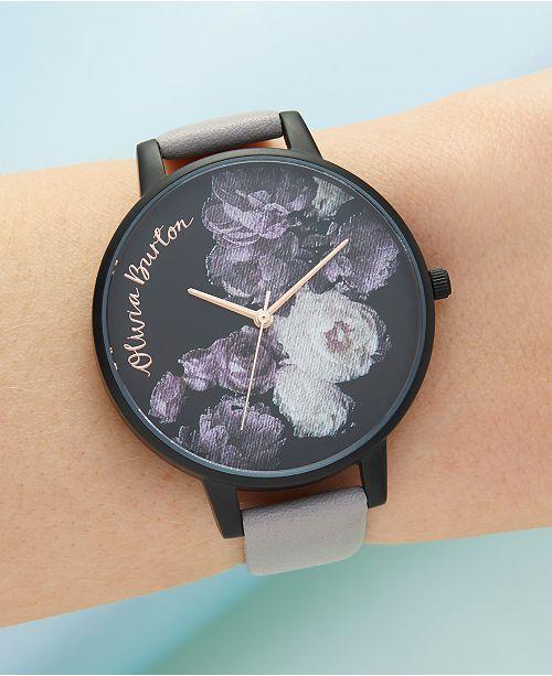 Women's Fine Art Lilac Leather Strap Watch 38mm