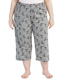 Plus Size Sweet Kitty Temp Tech Capri Pajama Pants