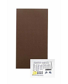 Tempered Wood Pegboard Heavy Duty Commercial Grade Tempered Round Hole Pegboards with 36 Piece Locking Hook Assortment