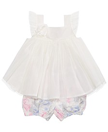 Baby Girls 2-Pc. Rosette Tunic & Bloomers Set, Created For Macy's