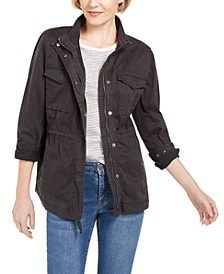 Petite Cotton Utility Jacket, Created for Macy's