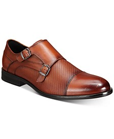 Men's Texture Double Monk-Strap Shoes, Created for Macy's