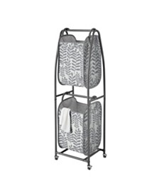 EVERFRESH® 2-Tier Rolling Vertical Laundry Sorter with Hamper-Totes