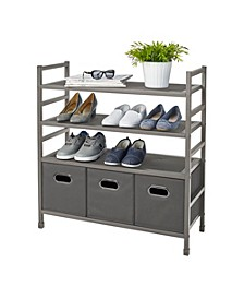Storage Rack with bins