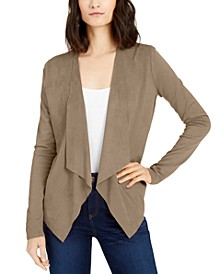INC Open-Front Moleskin Cardigan, Created for Macy's