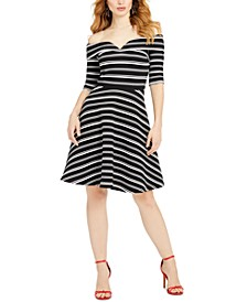 Epona Striped Off-The-Shoulder Dress