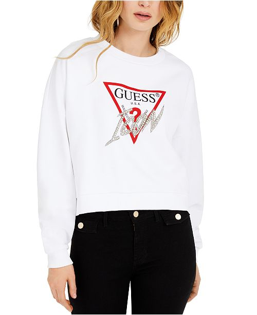 GUESS Icon Fleece Top