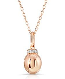Brilliant Bubbles Diamond 1/10 ct. t.w. Single Bubble Halo Pendant Designed in Rose Gold over Sterling Silver