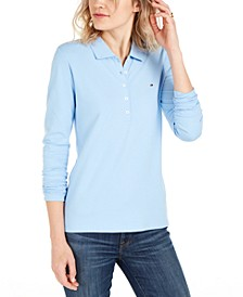 Long-Sleeve Polo Top