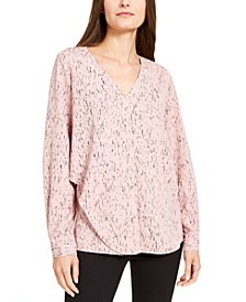 Abstract-Print Draped Blouse, Created for Macy's
