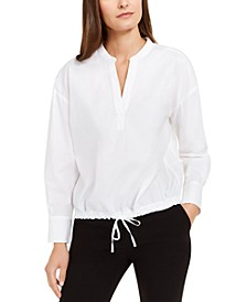 Drawstring-Hem Blouse, Created for Macy's
