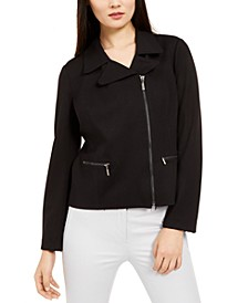 Zip-Up Moto Jacket, Created for Macy's