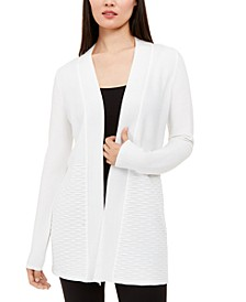 Petite Ribbed-Knit Open-Front Cardigan, Created for Macy's