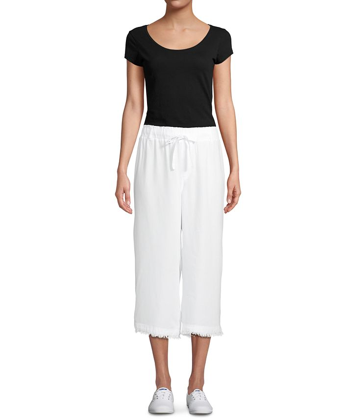 John Paul Richard - Cropped Frayed Soft Pants