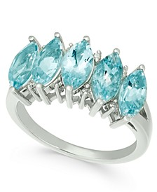 Aquamarine (2-1/2 ct. t.w.) & Diamond Accent Ring in 14k White Gold