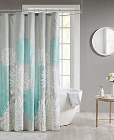 Maible Printed Floral Shower Curtain