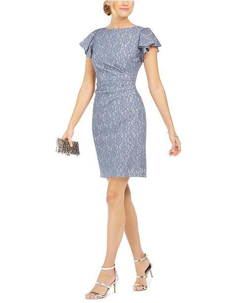 Jessica Howard V-Back Glitter Lace Dress