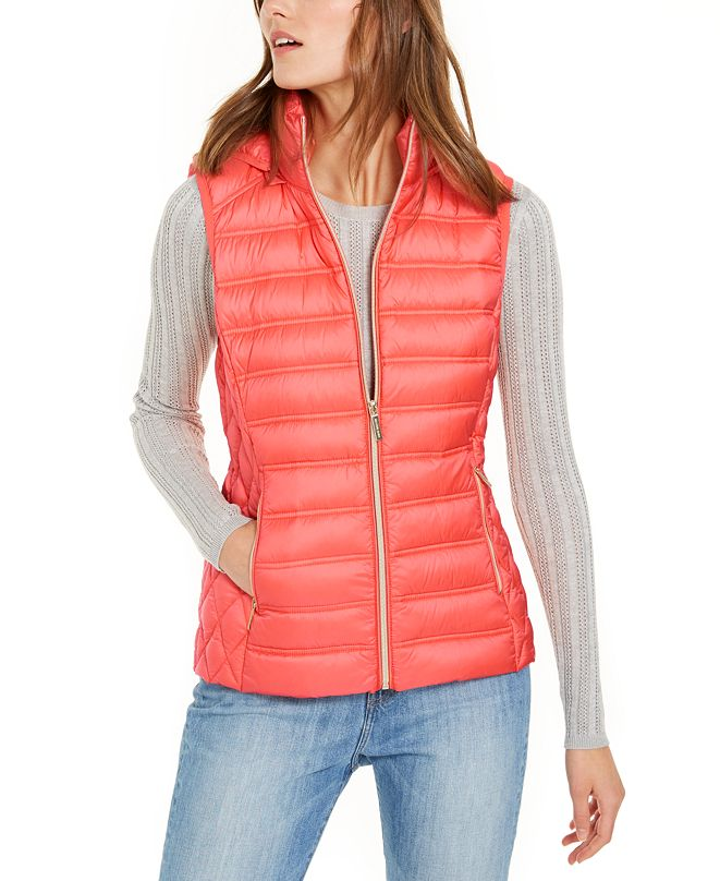 Michael Kors Hooded Quilted Vest