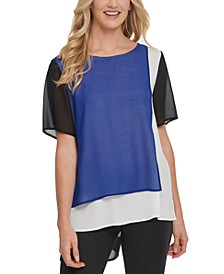 Colorblocked Layered-Look Top
