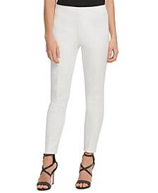 Slim Leg Cotton Pant with Side Zip
