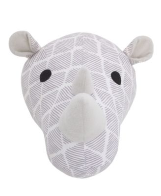 Rhino Plush Head Wall Décor
