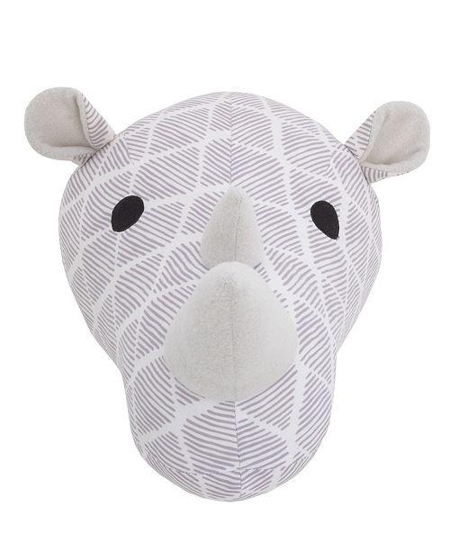 NoJo Rhino Plush Head Wall Décor