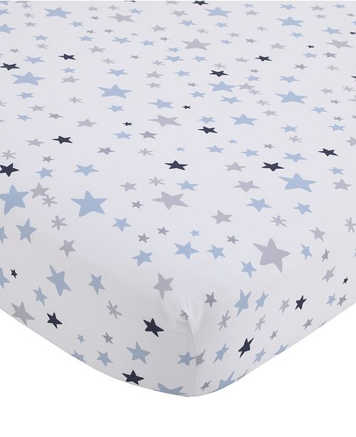 NoJo NoJo Star Print Fitted Crib Sheet