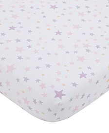 NoJo Star Print Fitted Crib Sheet