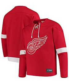 Men's Detroit Red Wings Franchise Lace Up Crew Sweatshirt