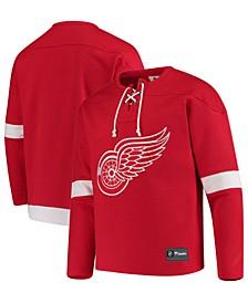 Men's Detroit Red Wings Franchise Lace Up Crew Sweatshirt