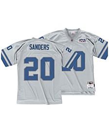 Men's Barry Sanders Detroit Lions 100 Year Platinum Jersey