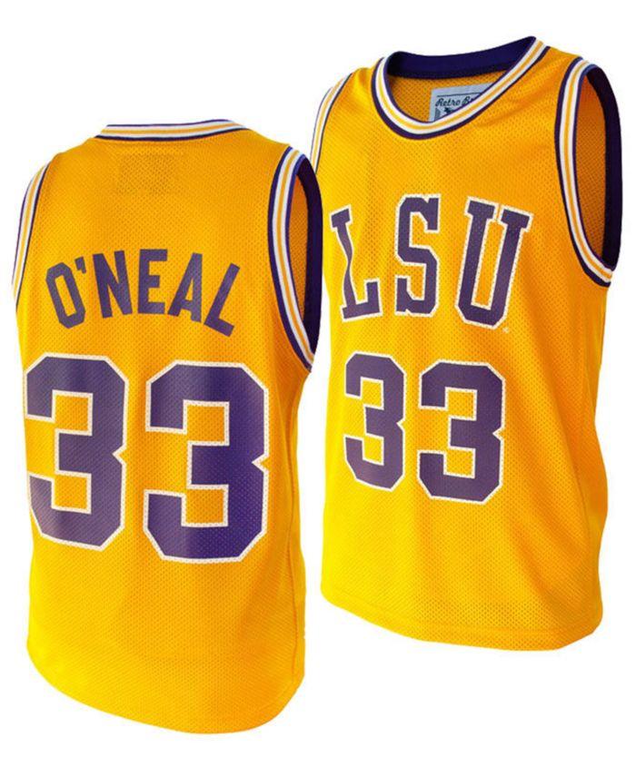 Retro Brand Men's Shaquille O'Neal LSU Tigers Throwback Jersey & Reviews - Sports Fan Shop By Lids - Men - Macy's