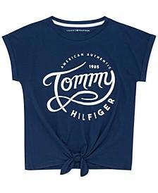 Little Girls Tie-Front Cotton T-Shirt
