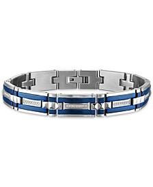 "Men's 1/3 Carat Diamond 8 1/2"" Bracelet in Stainless Steel"