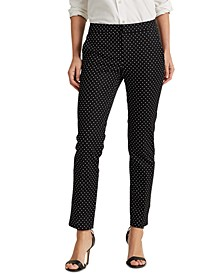 Polka-Dot Print Pants