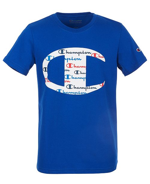 Champion Big Boys C Logo with Script Fill T-Shirt
