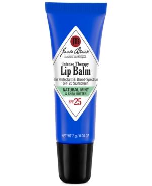Jack Black INTENSE THERAPY LIP BALM SPF 25, NATURAL MINT & SHEA BUTTER, 0.25 OZ