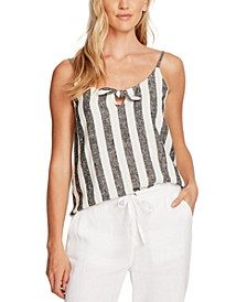 Striped Tie-Front Camisole, In Regular and Petite