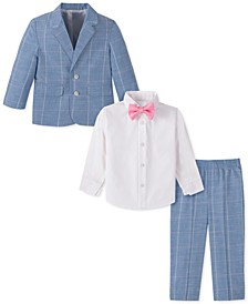 Baby Boys 4-Pc. Windowpane Suit Set
