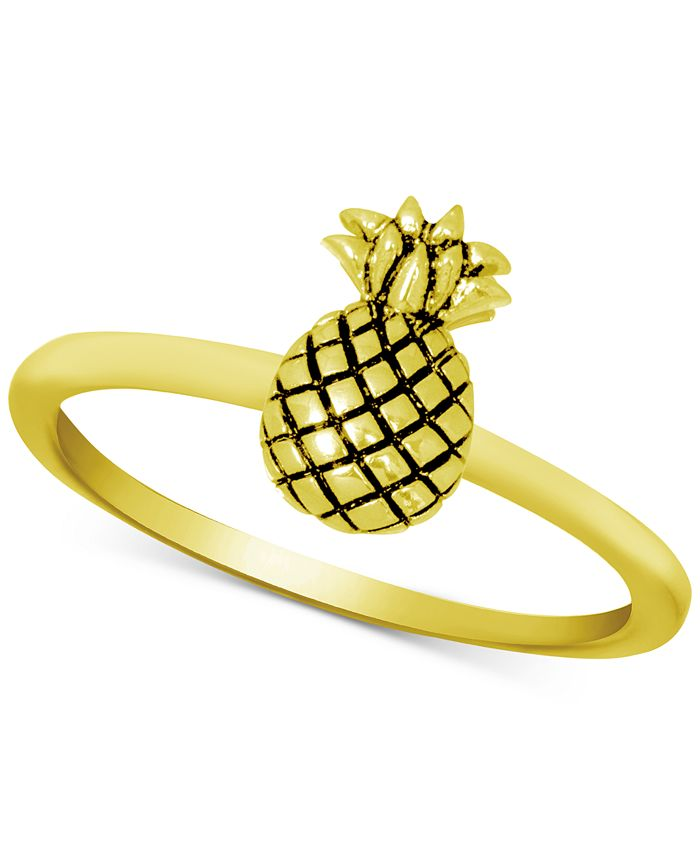 Kona Bay - Pineapple Ring in Gold-Plate