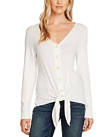 Ribbed Tie-Hem Top