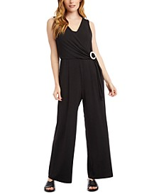 Faux Wrap Jumpsuit