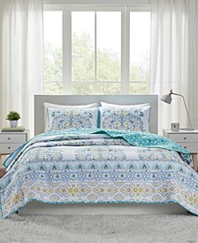 Tatiana Reversible 3-Piece Full/Queen Coverlet Set