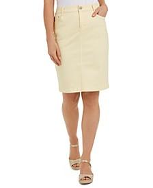 Denim Tummy-Control Skirt, Created for Macy's