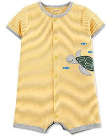 Baby Boys Cotton Turtle Romper