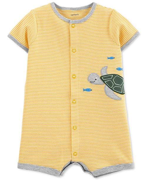 Carter's Baby Boys Cotton Turtle Romper