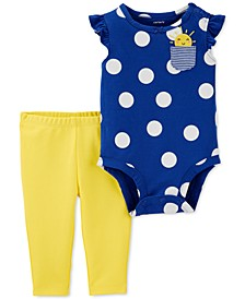 Baby Girls 2-Pc. Cotton Sunshine Bodysuit & Leggings Set