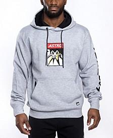 Men's Astroboy Premium Power Fleece Applique Patch Pullover Hoodie